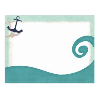 Carte postale nautique d'Achors de ressac