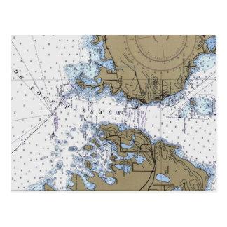 Carte postale nautique de diagramme de De Tour