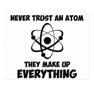 Carte Postale Ne faites jamais confiance à un atome