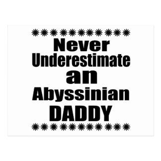 Carte Postale Ne sous-estimez jamais le papa abyssinien