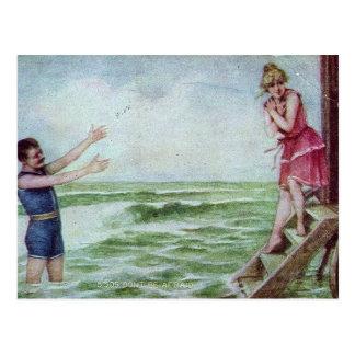 Carte Postale Ne soyez pas les 1910 maillots de bain effrayés