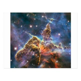 Carte Postale Nébuleuse d'espace lointain d'image de Hubble