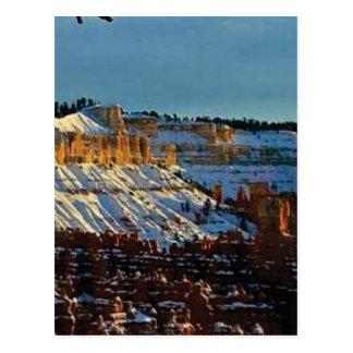 Carte Postale neige au bryce