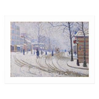 Carte Postale Neige, Boulevard de Clichy, Paris, 1886