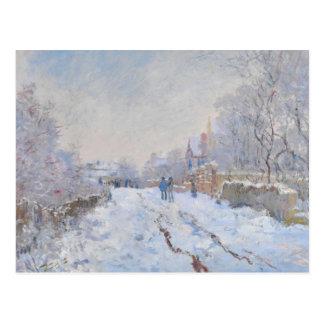 Carte Postale Neige de Claude Monet //à Argenteuil