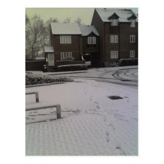 Carte Postale Neige de début de la matinée, 8h22 du matin de