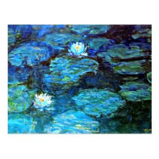 Carte Postale Nénuphars (bleus) par Claude Monet