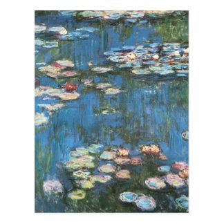 Carte Postale Nénuphars par Claude Monet, impressionisme vintage