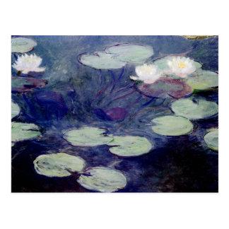 Carte Postale Nénuphars roses : 1897-99 par Monet