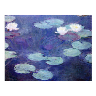 Carte Postale Nénuphars roses par Claude Monet