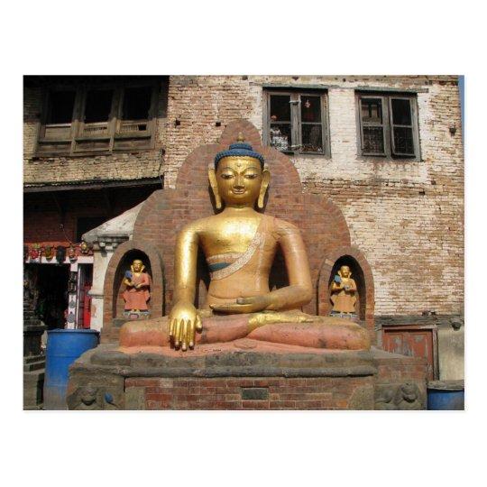 Carte Postale Nepal - Kathmandu  - Buddha at Swayambunath Temple