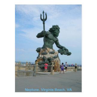 Carte Postale Neptune chez Virginia Beach