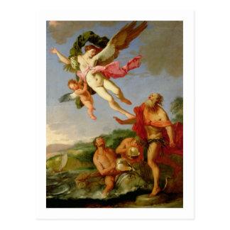 Carte Postale Neptune poursuivant Coronis, 1665-70 (huile sur la
