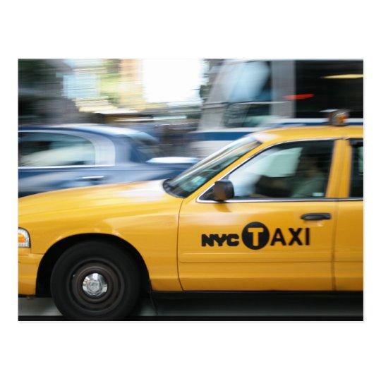 Carte Postale New York Cab