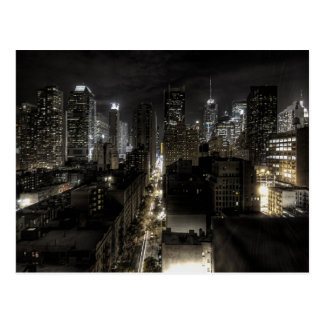 Carte Postale New York City la nuit