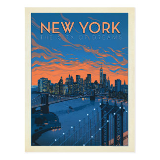 Carte Postale New York City | la ville des rêves