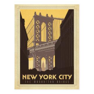 Carte Postale New York City | le pont de Manhattan