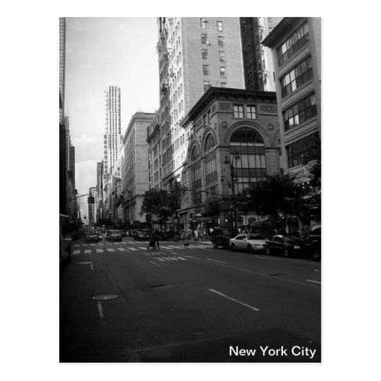 carte postale new york city noir et blanc. Black Bedroom Furniture Sets. Home Design Ideas