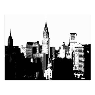 Carte Postale New York City noir et blanc