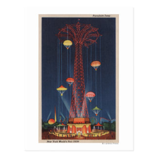 Carte Postale New York City, NY - saut de parachute au monde