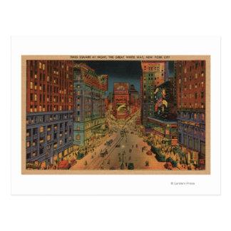 Carte Postale New York City, vue de NYNight de Times Square