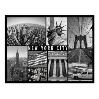 Carte Postale New York noir et blanc