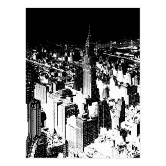 Carte Postale New York noir et blanc