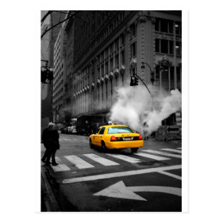 Carte Postale New York Ville Yellow Cab