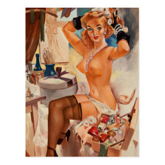 Carte Postale Nice Pin Girl-2 posé vers le haut d'art