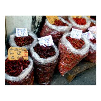 Carte Postale Nicey épicé, piments thaïlandais