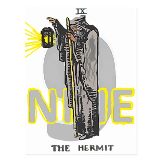 CARTE POSTALE NINE THE HERMIT TAROT