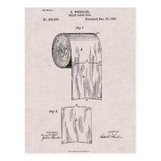 Carte Postale No. 465.588 de brevet de papier hygiénique par S.