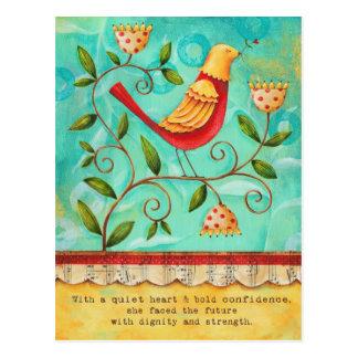 Carte postale noble d'oiseau