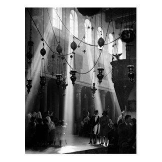 Carte Postale Noël de Bethlehem, les années 1940