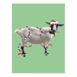 Carte Postale Noël de chèvre
