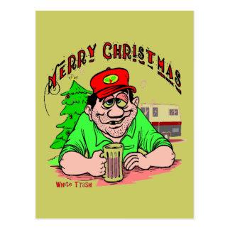 Carte Postale Noël de déchets blancs