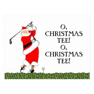 Carte Postale Noël de golf