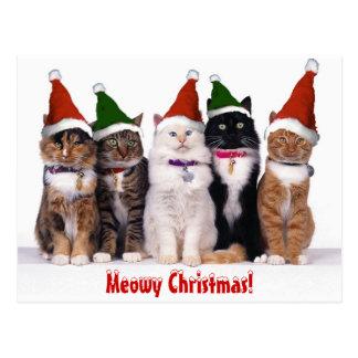 """Carte Postale """"Noël de Meowy !"""" Chats"""