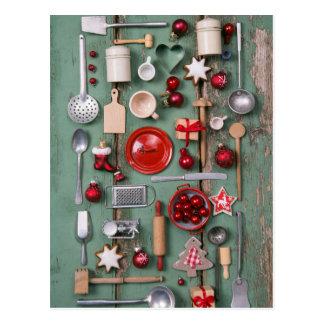 Carte Postale Noël de style campagnard