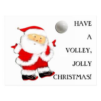 Carte Postale Noël de volleyball