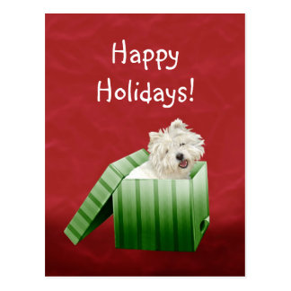 Carte Postale Noël de Westie