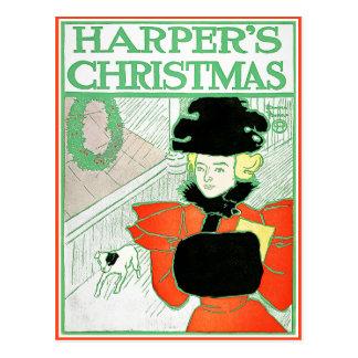 Carte postale : Noël du harpiste par Edouard