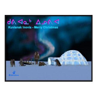 Carte Postale Noël du nord lointain