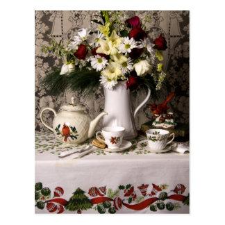 Carte Postale Noël floral de la vie heure du thé 2209 toujours