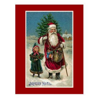 """Carte Postale Noël français vintage de """"Joyeux Noel"""""""