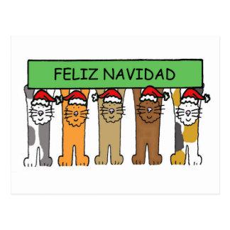 Carte Postale Noël heureux de Feliz Navidad dans l'Espagnol