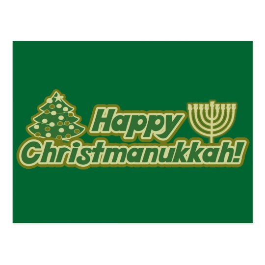 Carte Postale Noël heureux hanoukka Kwanzaa