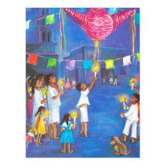 Carte Postale Noël mexicain, décorations d'amusement, célèbrent