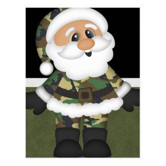 Carte Postale Noël militaire fait sur commande Père Noël de