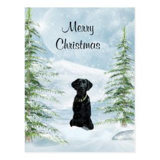 Carte Postale Noël noir de laboratoire